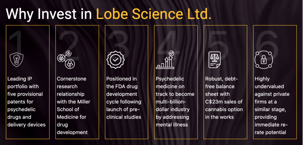 Pioneering psychedelic medicine company Lobe Sciences is breaking new  ground in the fight to combat a 'silent epidemic' - Value the Markets